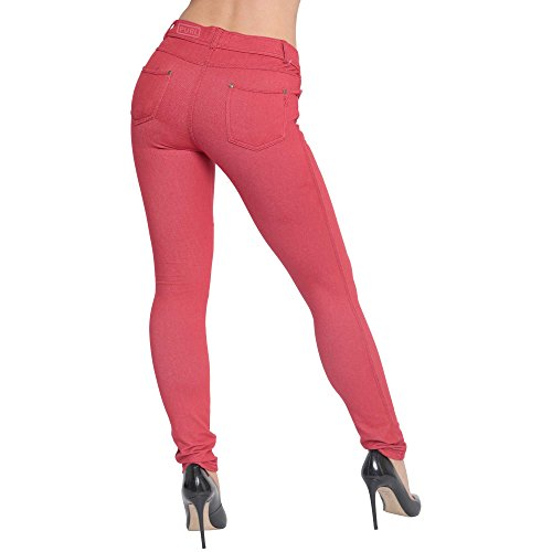 Extensible Mince Coupe Jean Rouge Superglamclothing Femmes Jeggings Rouge Color vfx6BB