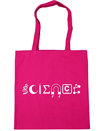 x38cm Gym Bag Science HippoWarehouse 10 Beach Elements 42cm litres Fuchsia Tote Shopping wgBx8qOC