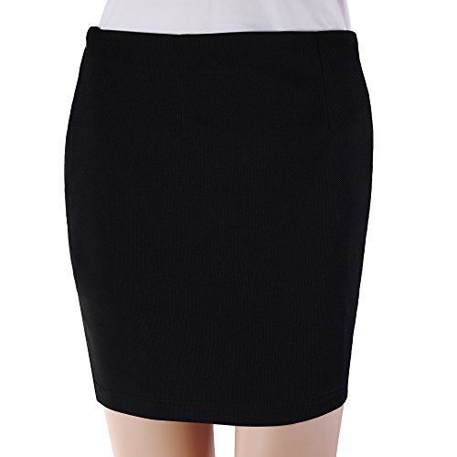 Ruched Back Pencil Skirt - 3
