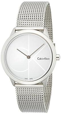 Calvin Klein Unisex Stainless Steel Mesh Minimal Watch K3M2212Z