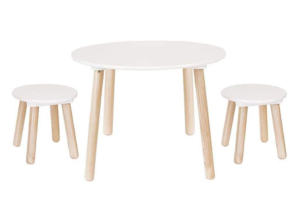 JaBaDaBaDo H13201 Tisch und 2 Hocker, Mehrfarbig Jabadabado AB Jabadabado_H13201