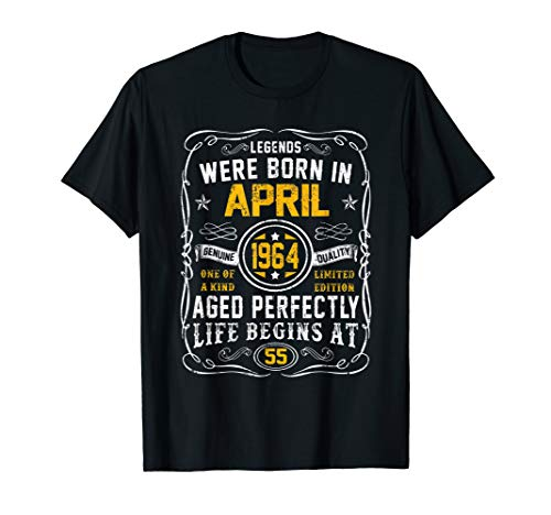 April 1964 55th Birthday Gift 55 Years Old For Men Women ()