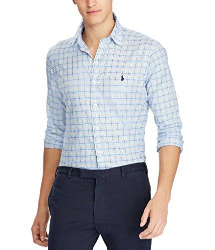 Polo Ralph Lauren Men's Classic-Fit Sport Shirt (Blue Screen/Yellow, - Lauren Shirt Ralph Classic Fit