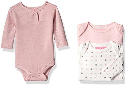 isaac-mizrahi-girls-3pc-long-sleeve-bodysuit-set-pink-polka-dots-6-9-months