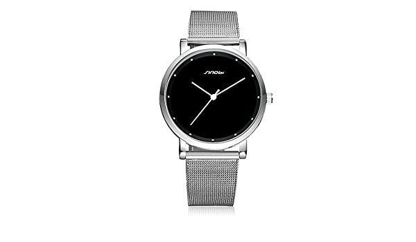 Amazon.com: Relojes de Hombre de Moda 2018 Stainless Steel Mesh Band Waterproof Business Dress Watch Men RE0077: Watches
