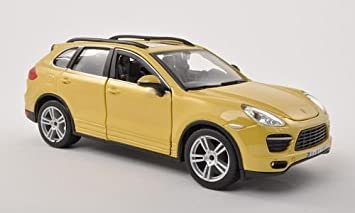 Porsche Cayenne (92A) Turbo, amarillo oscuro , Modelo de Auto, modello completo