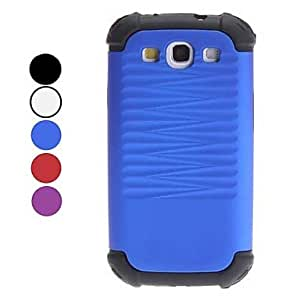DUR Detachable Design Ripple Pattern Soft Case for Samsung Galaxy S3 I9300 (Assorted Colors) , Blue