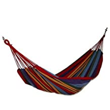 Creative Canvas Rainbow Stripe Quilted Fabric Hammock Foldable Hammock 110*31""