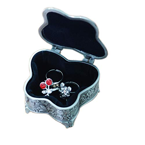 leiqin Decorative Jewelry Box Vintage Exquisite Butterfly Shape Ring Case Bracelet Storage Organizer Box Treasure Chest Case from leiqin