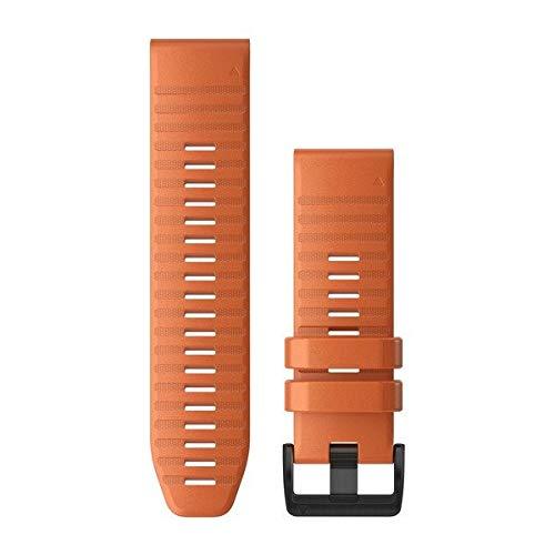 Garmin Quickfit 26 Watch Band, Ember Orange Silicone