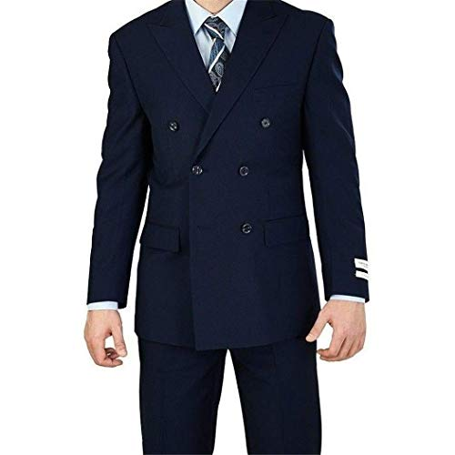 e Breasted 6 Button Classic Fit Suit New(52L/46W Regular) ()