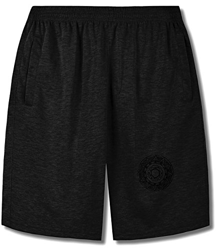 showyill Strange and funny black wreath Joggers short pants For man black (Kohls Wreaths)