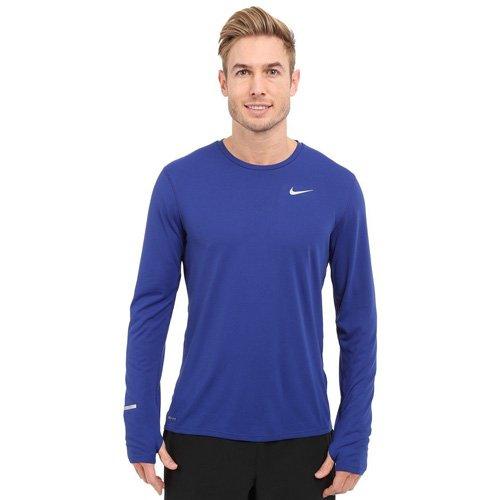 Deep Royal bleu Reflective argent L Nike Contour Maillot hommeches longues Homme