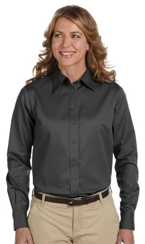 Womens Long Sleeve Twill Shirt - 2