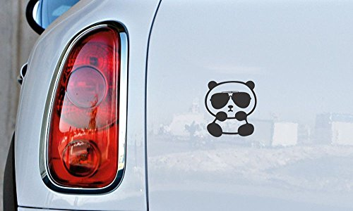Cute Panda Wearing Sunglass Car Vinyl Sticker Decal Bumper Sticker for Auto Cars Trucks Windshield Custom Walls Windows Ipad Macbook Laptop and More - Sunglasses Sun Wearing