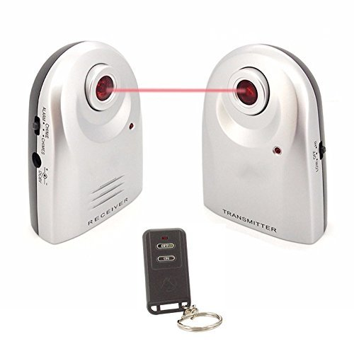 LingsFire Wireless Home Security Door Window Burglar Alarm with Chime, IR Doorbell Home Security Alarm System (1 Receiver, Transmitter and Remote) LingsFire