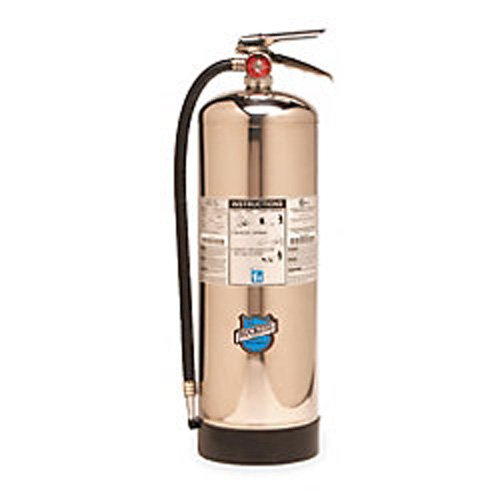 Buckeye 51000 Stainless Steel Water Mist Hand Held Fire Extinguisher with Wall Hook, 2.5 Gallon Agent Capacity, 7'' Diameter x 14'' Width x 28'' Height