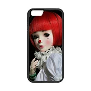 Diy Clown Phone Case for iphone 6 Plus (5.5 inch) Black Shell Phone JFLIFE(TM) [Pattern-1] hjbrhga1544