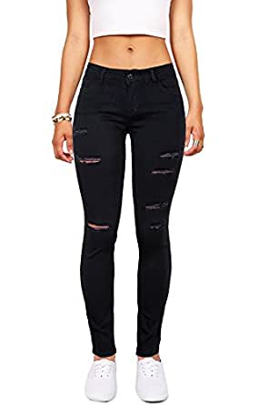 wax women s juniors mid rise skinny jegging jeans w distressing at