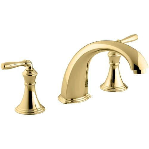 KOHLER K-T398-4-PB Devonshire Deck-/Rim-Mount High-Flow Bath Faucet Trim, Vibrant Polished Brass
