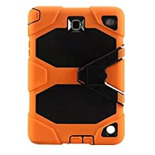 Galaxy Tab A 8.0 Case,for Samsung Galaxy Tab A 8.0 [SM-T350],Shockproof dust-proof hard armor Heavy Duty rugged impact Hybrid Case cover with Build In Kickstand Protective Case For Samsung galaxy Tab Galaxy Tab A 8.0 screen (oange)