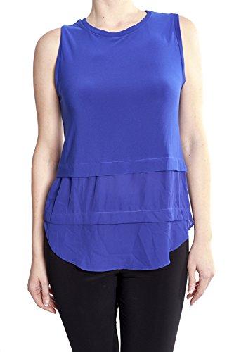 Joseph Ribkoff Sleeveless Layered Hem Blouse Top Style 173285 Size 8