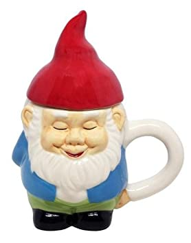 Gnome Mug With Cap To Keep Your Drink Warm - Ceramic Dishwasher Safe