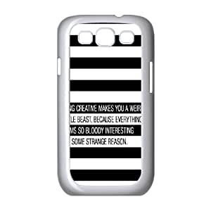 Samsung Galaxy S3 9300 Cell Phone Case White quotes being creative weird Z0V2ED