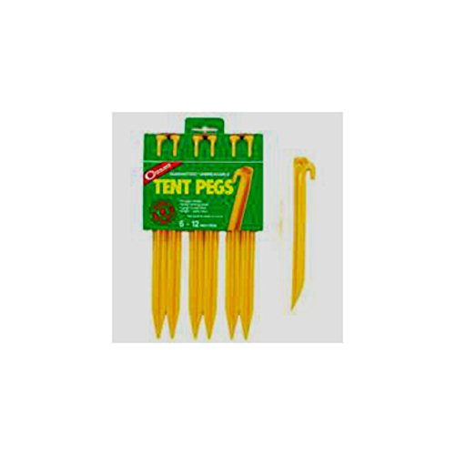 (COGHLANS LTD. ABS TENT PEG 12 inches 2 Packs of 6 Pack)