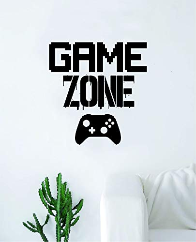 Game Zone Wall Decal Quote Home Room Decor Decoration Art Vi
