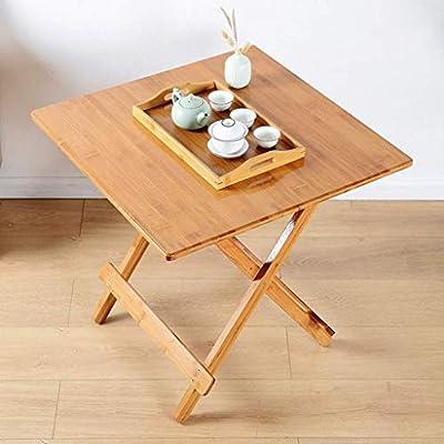 CZW Mesa plegable, mesa de escritorio cuadrada de madera ...