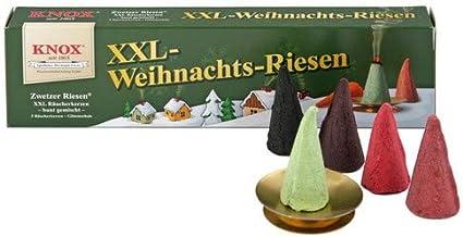 Glimmschale 5 inkl Zubehör KNOX Räucherkerzen XXL-Weihnachtsriesen