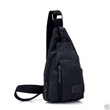 New Fashion Shoulder Canvas Bags Men Sport Casual bag Outdoors Hiking  Travel Bag (Black) 3ab9305422