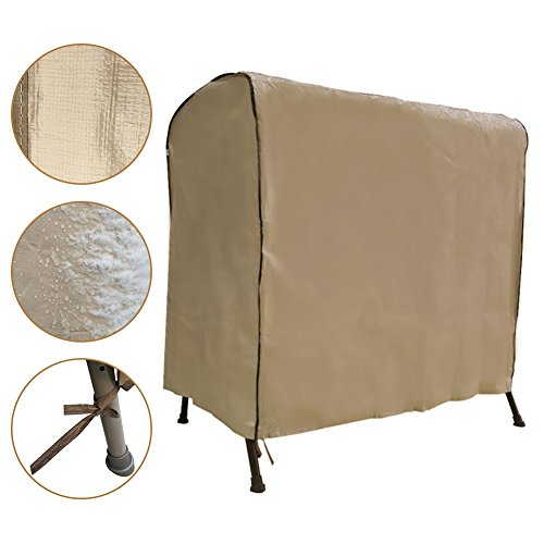 Abba Patio Swing Cover, Weather Protection 2-Person Seater Hammock Swing Cover, 65