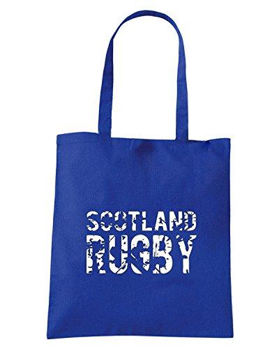 T-Shirtshock - Bolsa para la compra TRUG0172 ruggershirts scotland rugby kids logo Azul Real