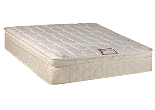 Continental Sleep Plush Quilted Euro Top Orthopedic Ultimate  10-Inch Mattress and 8-Inch Box Spring, Queen, White