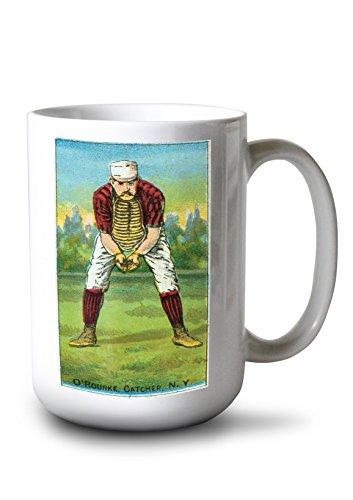 Lantern Press New York Giants - Jim O'Rourke - Baseball Card (15oz White Ceramic Mug)