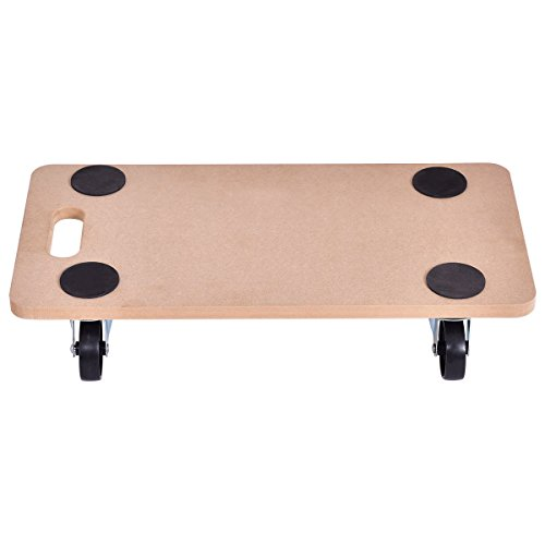 Goplus Moving Dolly Heavy Duty Wood Furniture Dllies Movers Carrier (23'' x11.5'' Platform) by Goplus (Image #1)