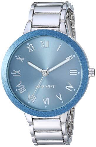 - Nine West Women's NW/2249LBSV Silver-Tone Bracelet Watch