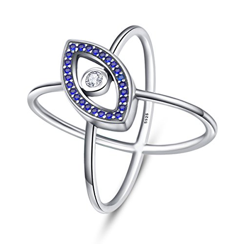 Nazar Evil Eye (BAMOER New Arrival 925 Sterling Silver Criss Cross