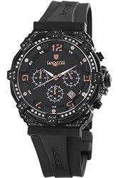 Lancaster Women's OLA0441L/BK/NR/NR Robusto Diamonds Chronograph Black Dial Rubber Watch
