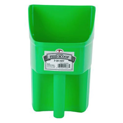 Image of Little Giant 3-Quart Enclosed Feed Scoop, Lime Green