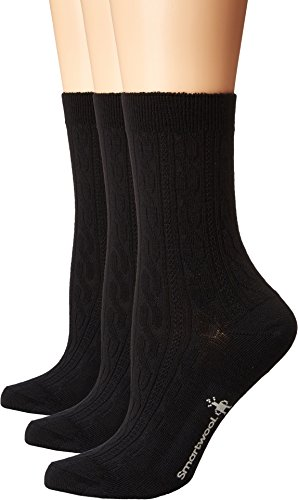 Smartwool Women's Cable 3-Pack Black Medium (Smartwool Cable Womens Socks)