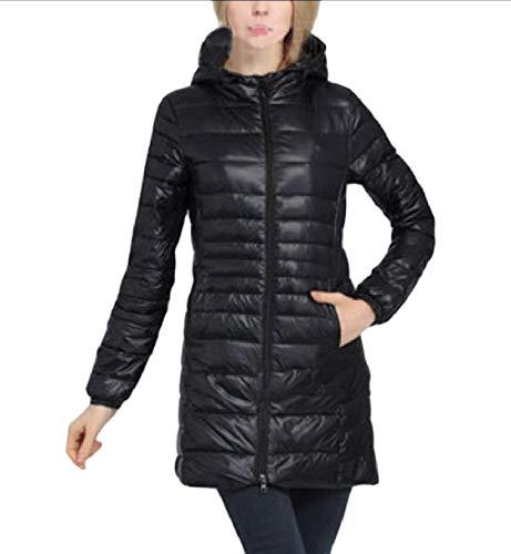 Down Rkbaoye size Plus Inverno Women Slim Nero Hoode Coat Caldo Autunno Leggero rrzE7gqw