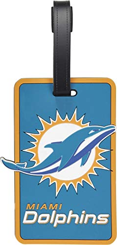 aminco NFL Miami Dolphins Soft Bag Tag