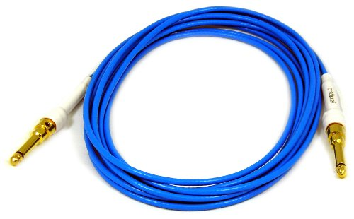 - George L's .155 Guage 15 Foot Blue Cable with Gold Straight Plugs