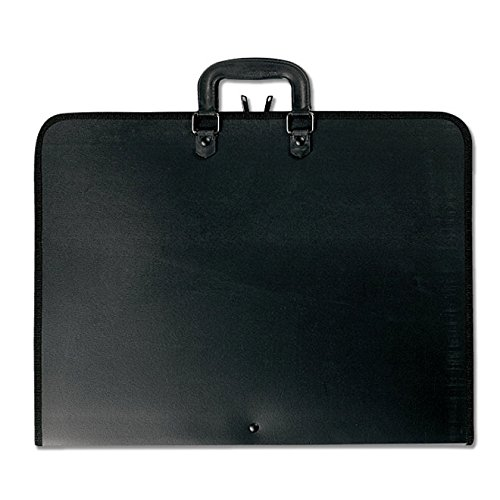 Prat Start 1 Portfolio, Lightweight Cover with Inside Pockets and Straps for Organization, Handle for Transport, 22 X 17 X 1 inches, Black (S1-1221) by Prat