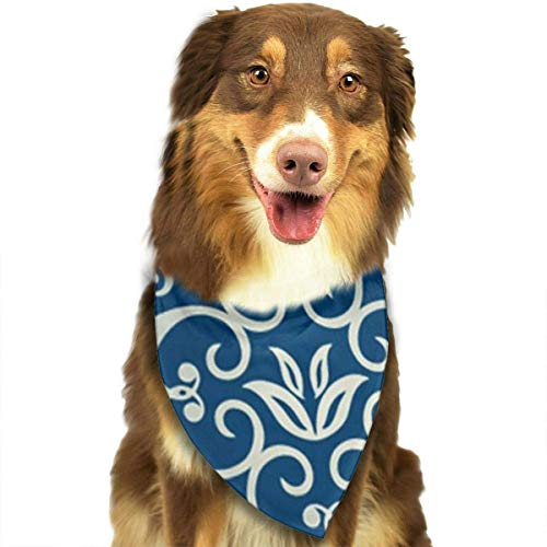 - Dog Bandana Scarf Blue Totem Triangle Bibs Printing Kerchief Set Accessories Dogs Cats Pets