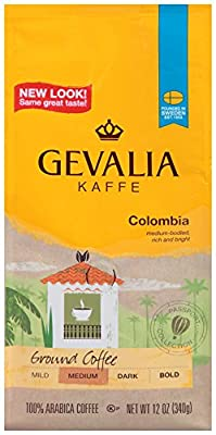 GEVALIA Colombia Roast, Ground Coffee, 12 Ounce