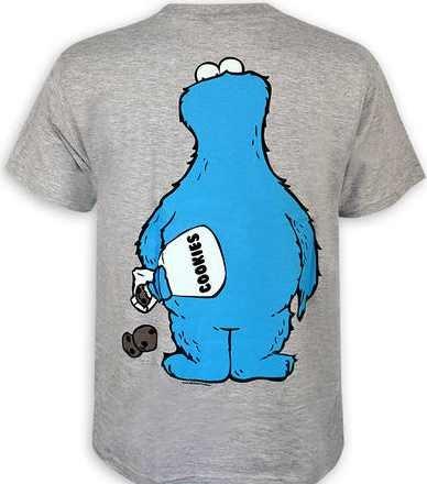 Sesamstrasse T-Shirt Cookie Thief in Größe M